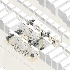 Chicago Boogie-Woogie is a re-imagined model of urban ownership and living on five Chicago lots.