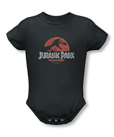 Take a look at this Charcoal Jurassic Park Bodysuit - Infant by Trevco on #zulily today!