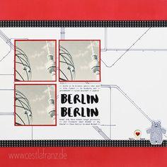 Berlin Layout 12x12 mit Bärchengruß von Stampin Up
