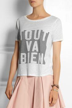 J.Crew 'Tout Va Bien' linen T-shirt NET-A-PORTER.COM