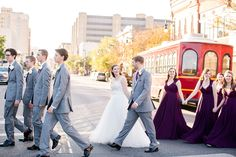 Wedding Photography, Bridal Portraits, Wedding flowers, Kansas Wedding, Wichita wedding, Moments of Grace Photography, Fall wedding, Bride & Groom photos, Downtown wedding photos, trolley wedding photos