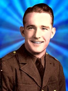 William R. Shockley from Bokoshe, OK. Posthumously awarded the Medal of Honor for his actions in WWII.  Picture from Hometown Heroes.