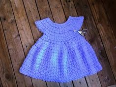 Crochet : Robe toutes tailles facile 2. Dress crochet easy all sizes 2