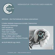 Profiwebsite für kleine Unternehmen Website, Creative, Hamburg, Small Businesses, Graphics, Things To Do