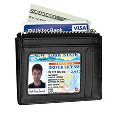 New Kinzd Slim Wallet RFID Front Pocket Wallet Minimalist Zipper Wallet Credit Card Holder online. Perfect on the M