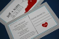 Postcards / save the date card