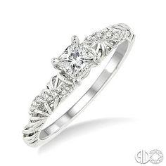 1/10 Ctw Diamond Semi-Mount Ring in 14K White Gold