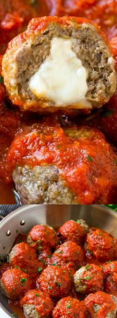 10 Most Misleading Foods That We Imagined Were Being Nutritious! These Mozzarella Stuffed Meatballs From The Recipe Critic Are A Fun Twist On The Classic Recipe Serve These Meatballs As A Party Appetizer Or Over A Big Plate Of Spaghetti For A Hearty Meal Easy To Make Appetizers, Appetizers For Party, Appetizer Recipes, Meat Recipes For Dinner, Sandwich Recipes, Mozzarella Stuffed Meatballs, Snacks Für Party, Party Party, Italian Recipes