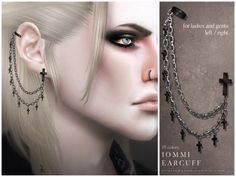 The Sims Resource: Iommi Earcuff by Pralinesims • Sims 4 Downloads