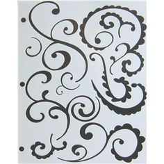 The Crafters Workshop Funky Swirls Stencil Template
