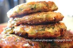 Healthy Zucchini Patties | Chef In You. I will replace the mozzarella w/Daiya non-dairy mozzarella