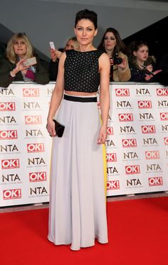 Another style win on the night, Big Brother's Emma Willis pulled out all of the stops in her cropped top and Roksanda skirt combo.  -Cosmopolitan.co.uk