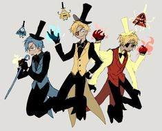 △ Gravity Falls- Reverse Falls △ Will Cipher, Bill Cipher, and angry