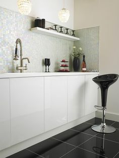 Information about Rainbow Pearl Mosaic Tile Old Bathrooms, Upstairs Bathrooms, Topps Tiles, Shower Cubicles, Mosaic Tiles, Mosaics, Home Kitchens, Kitchen Cabinets, Interior Design
