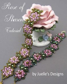 Tutorial for Rose of Sharon braclet by Juelle's Designs