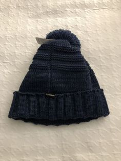 f0a582a074f adidas Beanie Hat New With Tags Blue Knit Cap Winter Cold Ski Snowboard  Fits All
