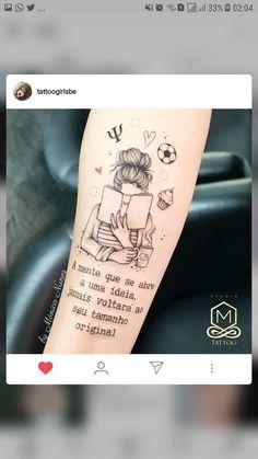 a mente que se abre a uma ideia jamais voltara ao seu tamanho original- the mind that opens to an idea has never returned to its original size Trendy Tattoos, Love Tattoos, Beautiful Tattoos, New Tattoos, Body Art Tattoos, Small Tattoos, Tatoos, Writer Tattoo, Book Tattoo