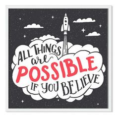 Gallery Direct 'All Things Are Possible' Paul Malyugin Framed Graphic Art Size: