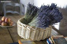 Lavender Basket Centerpiece