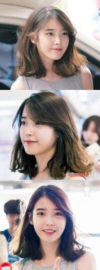 긴단발 Korean Short Hair, Short Hair Cuts, Iu Short Hair, Iu Hair, Hair Dos, Medium Hair Styles, Short Hair Styles, Mid Length Hair, Asian Hair