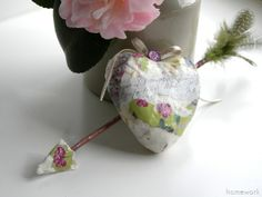 homework: today's assignment - be inspired {creative inspiration for home and life}: Celebrations: decoupage heart & arrow