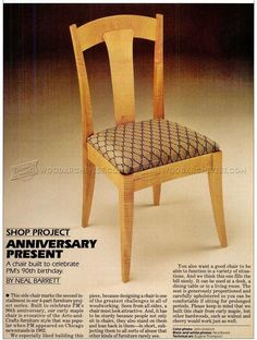 Side Chair Plans - Furniture Plans and Projects - Woodwork, Woodworking, Woodworking Plans, Woodworking Projects Furniture Plans, Furniture Design, Woodworking Plans, Woodworking Projects, Side Chairs, Dining Chairs, How To Plan, Krystal, Creative Ideas