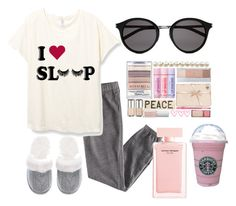 """Nighttime routine"" by gigicr ❤ liked on Polyvore featuring H&M, Yves Saint Laurent, Narciso Rodriguez and Victoria's Secret"