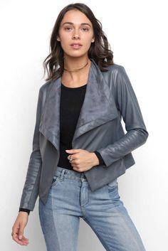 BB Dakota Vegan Drape Jacket Vegan Leather Jacket, Kendall Jenner Outfits, Vegan Fashion, Soft Suede, Bomber Jacket, Bb, Jackets, Fashion Trends, Clothes