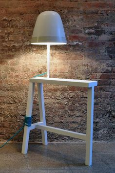 ONE+ONE An object that is born from mixing a trestle and a lamp http://lov.so/oneone-lamps-creative-affairs/ ONE + ONE #design #forniture