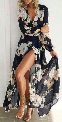 bohemian style addiction: printed maxi dress