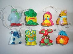 Cute Easter Animals Spring Pendants 2009 Kinder Surprise Figures Collectibles | eBay