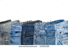 Fashion jeans on white background. - stock photo