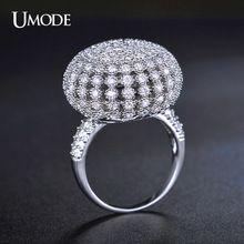 UMODE Elegante Lindo Aneis Volledige Verharde Bud Ronde Vormige Vintage Ring Wit…