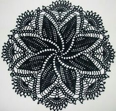 Doilie with diagram, Spanish site Crochet Home, Thread Crochet, Knit Or Crochet, Filet Crochet, Crochet Motif, Lace Knitting, Crochet Doilies, Crochet Potholders, Crochet Stitches Patterns
