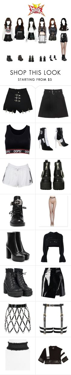 Music Bank | Fools | 190417 | 1st Win by smallmarshmallow ❤ liked on Polyvore featuring Acne Studios, Puma, adidas Originals, Jeffrey Campbell, Balenciaga, Alexander Wang, Kenzo, UNIF, Markus Lupfer and WithChic