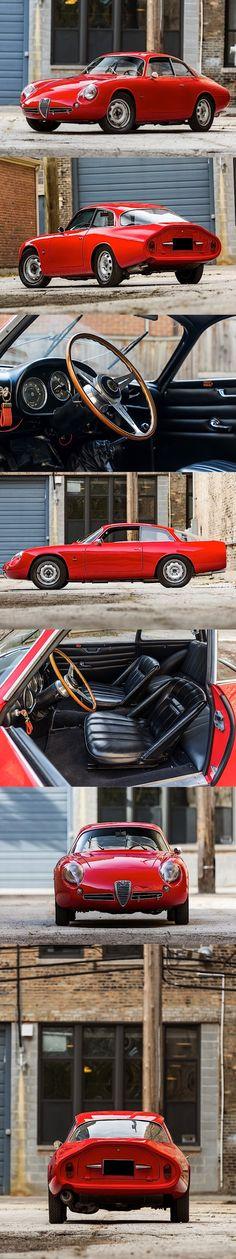 1962 Alfa Romeo Giulietta SZ2 Coda Tronca / Tipo 101.26 / Zagato / Itely / red / 17-366