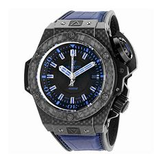 be748e6ccb1 Hublot King Power Oceanographic Black Dial Blue Rubber Mens Watch  731.QX.1190.