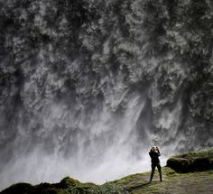 By the waterfall by Sverrir Thorolfsson  - Dettifoss waterfall in Vatnajökull National Park, Northeast Iceland