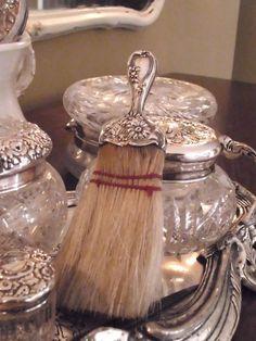 Vintage silver vanity set