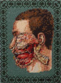 Crimean Battle surgery needlework by Penny Nichols.