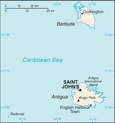 Antigua and Barbuda Country information John's Southern Caribbean, Caribbean Sea, Caribbean Cruise, Antigua Caribbean, Map Pictures, Photos, Serenade Of The Seas, Country Information, Island Map