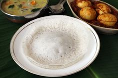 Appam recipe is made with rice and fresh coconut with or without yeast. Its popular among Kerala breakfast recipes that are healthy, simple and easy to make.