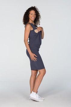 Mammaklänning och amningsklänning med den dolda innovativa  amningsfunktionen som möjliggör amning riktigt diskret 256ed96560614