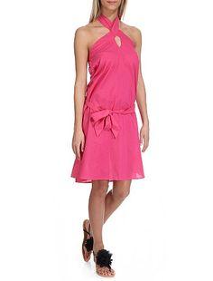 Quelle enseigne?  Une robe rose avec lien à nouer de chez Kiabi http://www.esioox.fr/cadeau-kiabi  Olivia