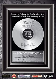Tanwood 70th Show Poster