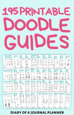 Become a doodling pro with this mega bundle including over how to doodle guides for to make your planner look incredible! #doodles #doodlesguides #howtodraw #planneraddict #planner Happy Doodles, Bujo Doodles, Cool Doodles, Simple Doodles, Easy Doodle Art, Doodle Ideas, Doodle For Beginners, Sticker Organization, Drawing Skills