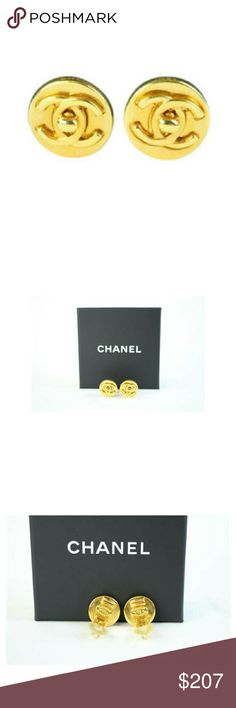 """Chanel Turnlock Earrings 18CCA41017  "" Previously owned.  Made In: France.Gently Used.  Size:0.5""L x 0.5""H x 0.4""W   OVERALL VERY GOOD CONDITION   Signs of Wear: Very slight discoloration of the surface. Hallmark located on the back of the earrings. Box included.  Color appearance may vary depending on your monitor settings.  SKU:18CCA41017. CHANEL Jewelry Earrings"