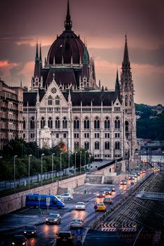 Dusk in Budapest, Hungary #places
