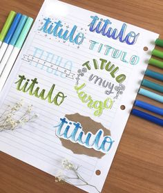 Bullet Journal Titles, Journal Fonts, Bullet Journal School, Bullet Journal Inspiration, Bullet Journal Calendrier, Stabilo Boss, Hand Lettering Alphabet, School Notebooks, Pretty Notes