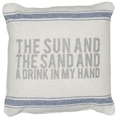 Rustic Sun And Sand Accent Pillow